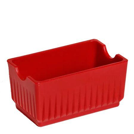 Porta Sachê Elegance Vermelho em Policarbonato Linha Profissional Cook Vemplast Lateral