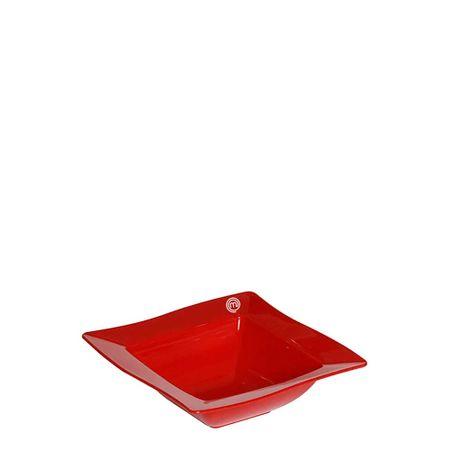 Saladeira Moove Quadrada 800ml Vermelha em Polipropileno MasterChef Lateral