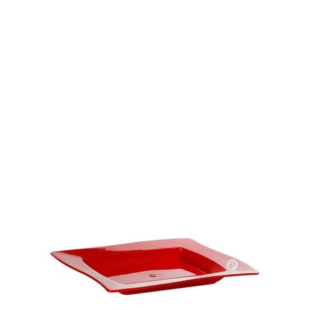 Saladeira Moove Retangular 1L Vermelha em Polipropileno MasterChef Lateral