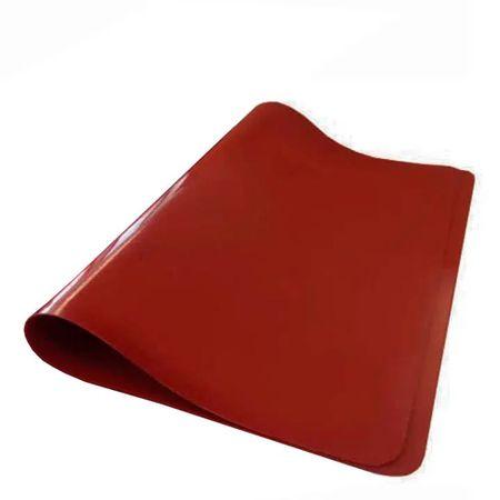 Tapete de Silicone Culinário Quadrado 40x60 Vermelho em Silicone Linha Prepare Vemplast Frente