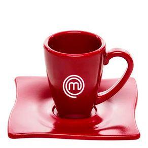 Xícara Elegance Para Café 80ml Vermelha em Policarbonato MasterChef Frente