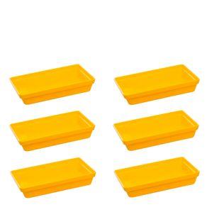 Conjunto de Travessa Stillo Rasa 1,850L 6 Peças Amarelo em Polipropileno Linha Tropical Vemplast