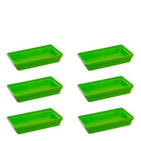 Conjunto de Travessa Stillo Rasa 1,850L 6 Peças Verde em Polipropileno Linha Tropical Vemplast