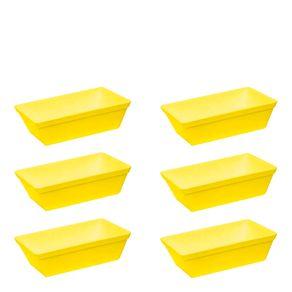 Conjunto de Travessa Stillo 2L 6 Peças Amarelo em Polipropileno Linha Tropical Vemplast