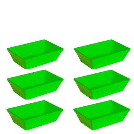 Conjunto de Travessa Stillo 2L 6 Peças Verde em Polipropileno Linha Tropical Vemplast