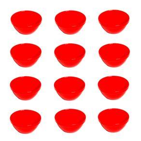 Conjunto de Sopeira Cheff 250ml 12 Peças Vermelho em Polipropileno Linha Tropical Vemplast