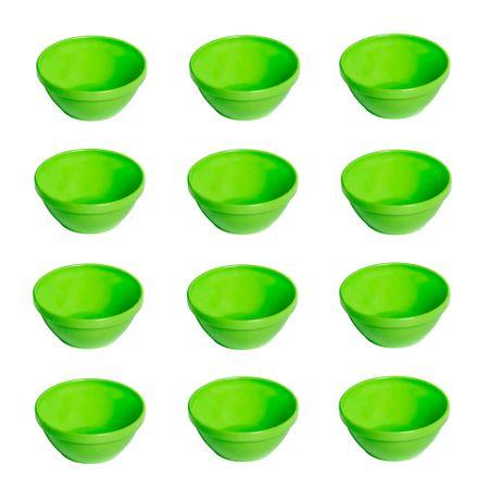 Conjunto de Sopeira Cheff 250ml 12 Peças Verde em Polipropileno Linha Tropical Vemplast
