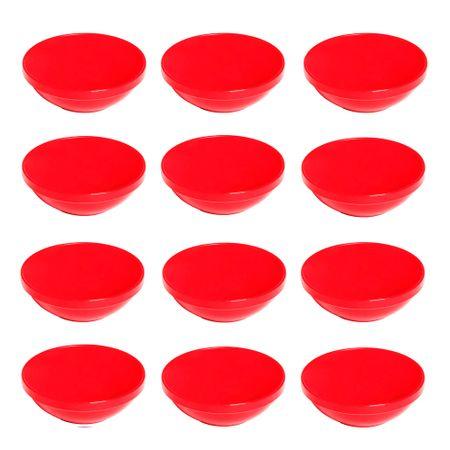 Conjunto de Sopeira Cheff 350ml 12 Peças Vermelho em Polipropileno Linha Tropical Vemplast