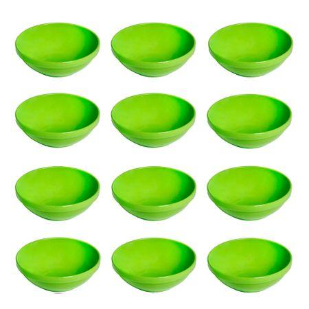 Conjunto de Sopeira Cheff 350ml 12 Peças Verde em Polipropileno Linha Tropical Vemplast
