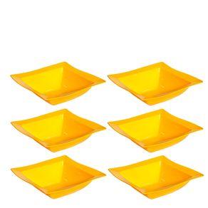 Conjunto de Saladeira Moove 2L 6 peças Amarelo em Polipropileno Linha Tropical Vemplast