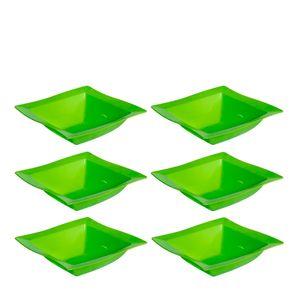 Conjunto de Saladeira Moove 2L 6 peças Verde em Polipropileno Linha Tropical Vemplast