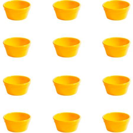 Conjunto de Ramequim Cheff 60ml 12 Peças Amarelo em Polipropileno Linha Tropical Vemplast