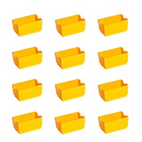 Conjunto de Porta Sachê Elegance 12 Peças Amarelo em Polipropileno Linha Tropical Vemplast