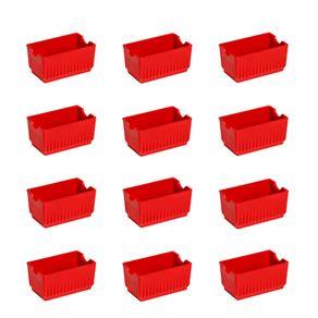 Conjunto de Porta Sachê Elegance 12 Peças Vermelho em Polipropileno Linha Tropical Vemplast