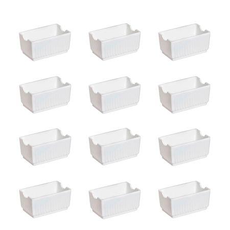 Conjunto de Porta Sachê Elegance 12 Peças Branco em Polipropileno Linha Tropical Vemplast