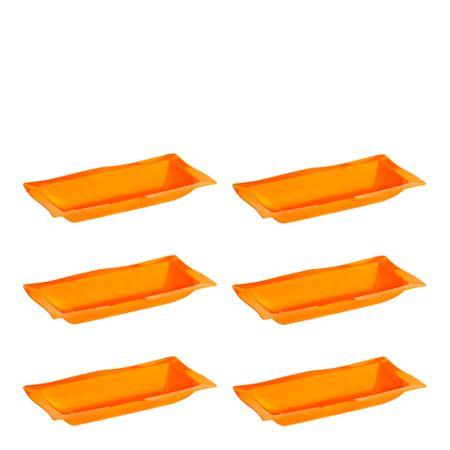 Conjunto de Saladeira Moove 5L 6 Peças Laranja em Polipropileno Linha Tropical Vemplast