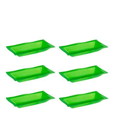 Conjunto de Saladeira Moove 5L 6 Peças Verde em Polipropileno Linha Tropical Vemplast