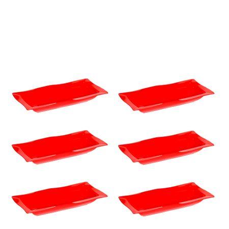 Conjunto de Saladeira Moove 5L 6 Peças Vermelho em Polipropileno Linha Tropical Vemplast