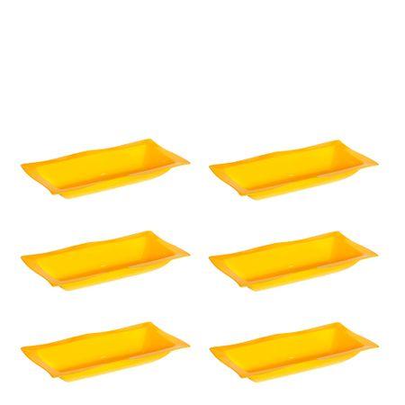 Conjunto de Saladeira Moove 5L 6 Peças Amarelo em Polipropileno Linha Tropical Vemplast