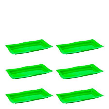 Conjunto de Saladeira Moove Rasa 3L 6 Peças Verde em Polipropileno Linha Tropical Vemplast