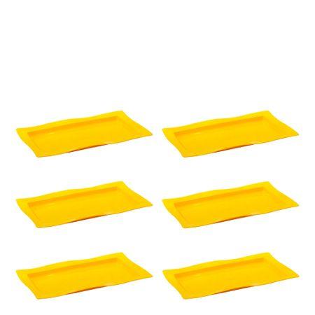 Conjunto de Saladeira Moove Rasa 3L 6 Peças Amarelo em Polipropileno Linha Tropical Vemplast