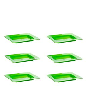 Conjunto de Saladeira Moove Rasa 1L 6 Peças Verde em Polipropileno Linha Tropical Vemplast