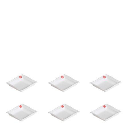 Conjunto de Molheira Moove 35ml 6 Peças Branco em Polipropileno MasterChef Vemplast