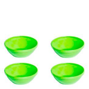 Conjunto de Sopeiras Cheff 250ml 4 Peças Verde em Polipropileno Vemplast
