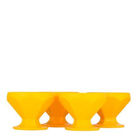 Conjunto de Taça de Sobremesa Caribe 150ml 4 Peças Amarelo em Polipropileno Linha Tropical Vemplast