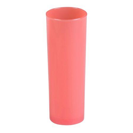 Copo Long Drink Slim 300ml Coral em Polipropileno Linha Tendência Vemplast