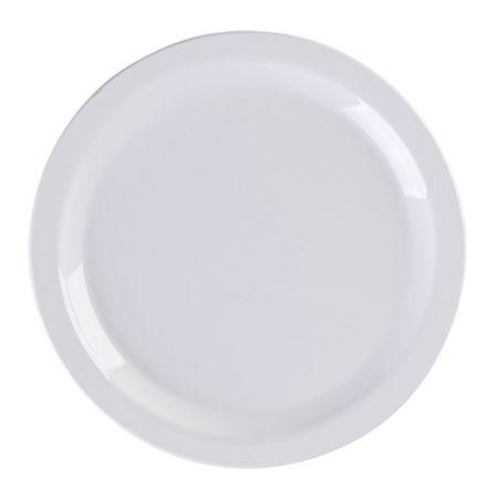 Prato Elegance Raso Redondo 19cm Branco em Policarbonato Linha Profissional Cook Vemplast